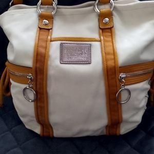 Coach Poppy leather handbag